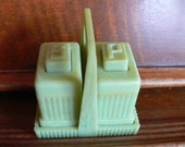 Set of Art Deco Style Carvanite Salt and Pepper Shakers