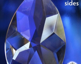 HUGE Lead Crystal Prism Suncatcher Ornaments-63mm