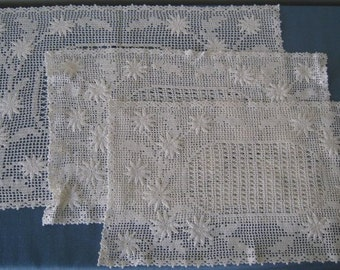 REDUCED -- Vintage Crocheted Placemats