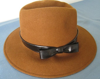 Vintage Rust-brown Felt Fedora