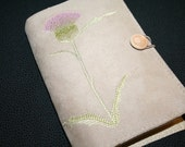 Thistle Embroidered Book Cover