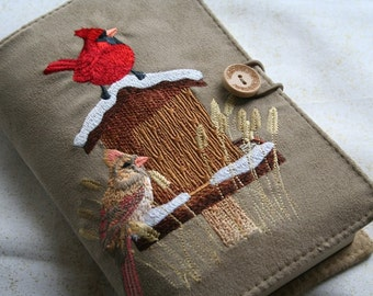 Embroidered His and Her Cardinals Book Cover