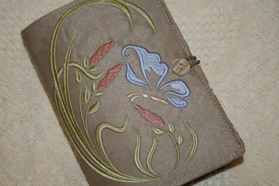 Embroidered Heirloom Butterfly Book Cover