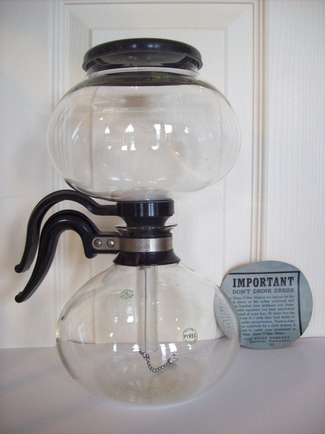 Vacuum Coffee Maker ~ Vintage silex vacuum coffee maker with pyrex bowls