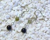 Black Agate and Fancy Jasper Earrings