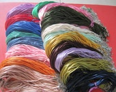 Sale 100pcs 16-18 inch adjustable 2mm assorted(more than 40 colors for your choose) satin necklace cords with very small finish