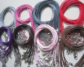 17pcs16-18 inch adjustable assorted1.0mm korea leather necklace cords with very small finish