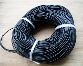 20 meter 2mm black real leather cords