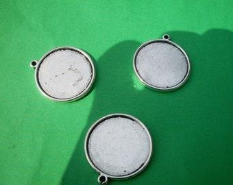 9pcs 30mm tibetan silver round picture/photo frame charms/pendants