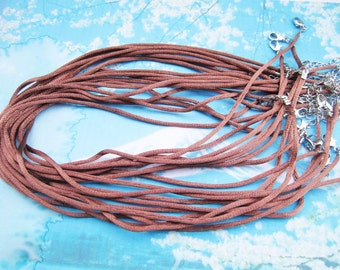 on sale 100pcs 16-18 inch adjustable 2mm brown satin necklace cords
