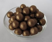 Fondant Edible Pearls - Chocolate Fondant, Brown, 8mm QTY 100 - Cupcake Topper, Cake Decoration