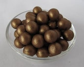 Chocolate Edible Pearls - Fondant, Brown, 6mm QTY 100 - Cupcake Topper, Cake Decoration