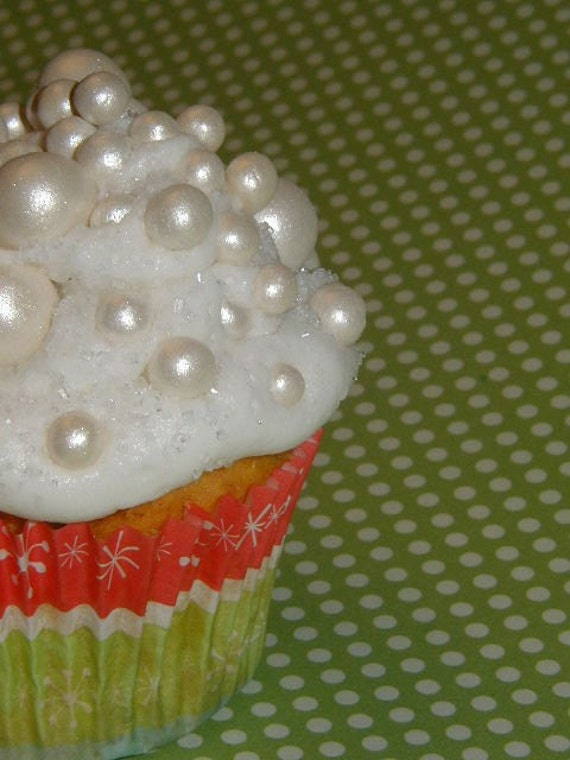 Edible Cake Decorations Pearls : Fondant edible pearls wedding cakes cupcake by TWOSWEETCAKES