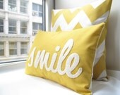 Smile Pillow in Yellow