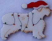 Clumber Spaniel Christmas Pin, Magnet or Ornament -Free Shipping -Hand Painted