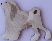 Lowchen Pin, Magnet or Ornament -Free Shipping -Color Choice -Hand Painted