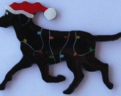 Labrador Retriever Christmas Pin,Magnet or Ornament-Free Shipping-Color Choice-Hand Painted