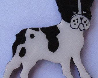 French Bulldog Pin, Magnet or Ornament-Color Choice-Free Shipping-Hand Painted
