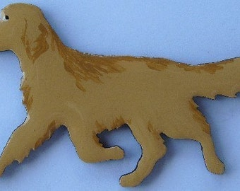 Golden Retriever Pin, Magnet or Ornament-Hand Painted-Free Shipping