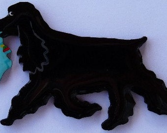 American Cocker Spaniel Pin, Magnet or Ornament -Color Choice -Free Shipping -Hand Painted -Also See English Cocker