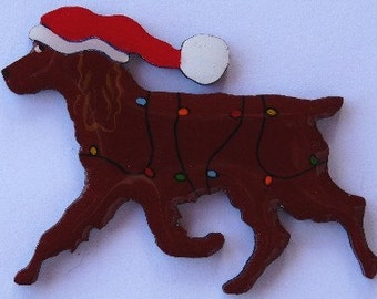 Boykin Spaniel Christmas Pin, Magnet or Ornament -Free Shipping-Hand Painted- Free Personalization Available
