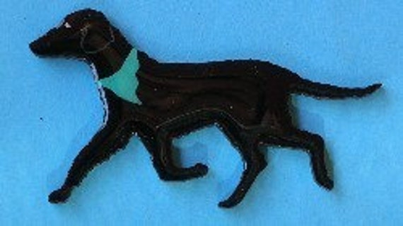Curly Coated Retriever Pin, Magnet or Ornament-Color Choice-Free Shipping-Hand Painted
