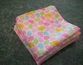 ONLY TWO LEFT-set of two Easter napkins-sparkly eggs