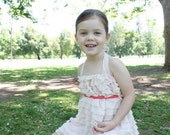 Sizes 18 Months to 4T, Girls Ruffle Dress, Flower Girl Dress, Special Occasion Dress, Toddlers and Girls, Pink and Coral