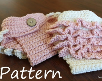 Crochet PATTERN | Heirloom Newborn Ruffle Diaper Cover, Photo Prop by Girl Plus Yarn Instant Download