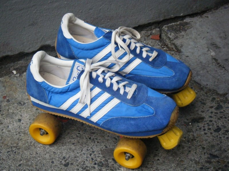 Vintage 70's Adidas Style Suede Tennis Shoe DISCO ROLLER