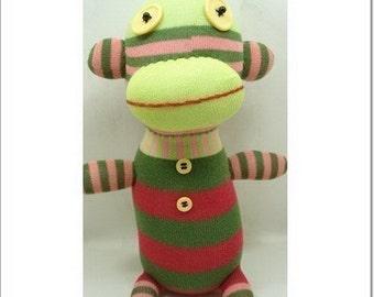 Super Deal Handmade Sock Monkey Stuffed Animal Doll Baby Toys
