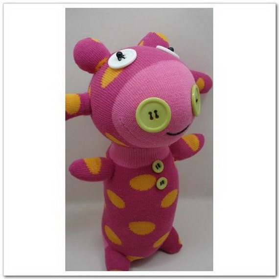 Handmade Sock Cow Stuffed Animal Doll Baby Toys