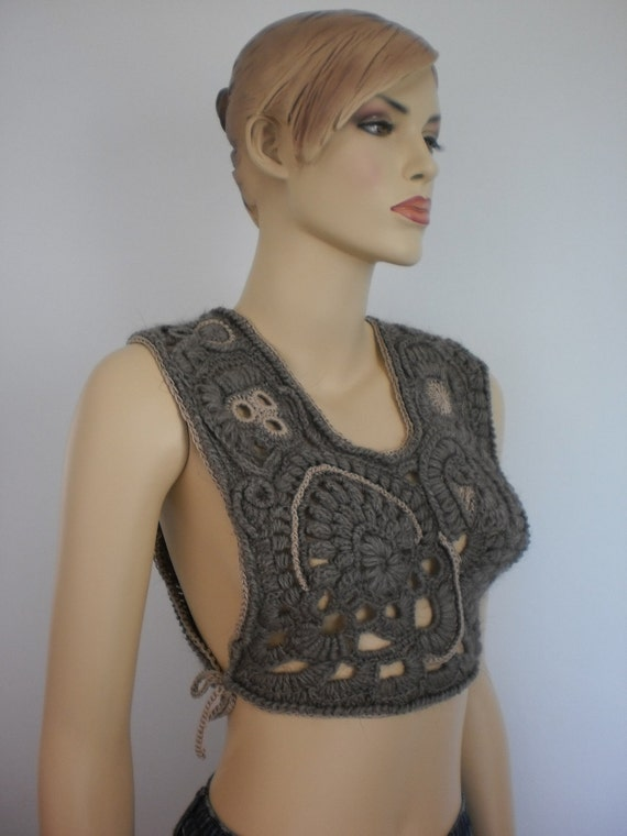 Reserved. Wearable Art  Freeform Vest  Lace Fashion