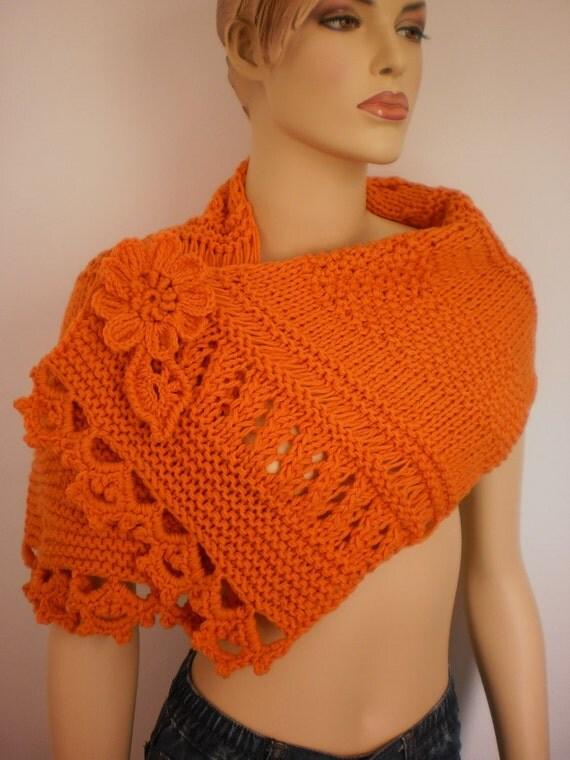 Orange  Scarf-Wrap- Wool Scarf-Fall Fashion - designer scarf