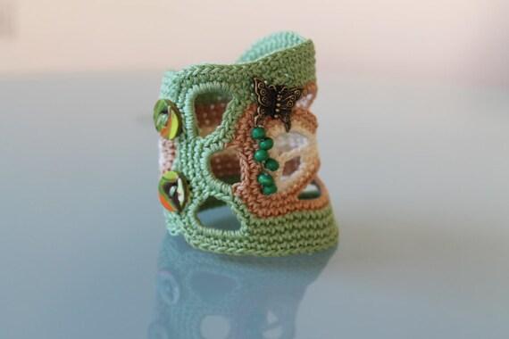 Freeform  Crochet cuff - Fall Fashion