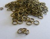 200 Jump rings 5mm antique bronze tone