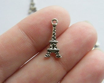 16 Eiffel tower charm antique silver tone WT35