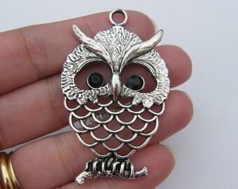 1 Owl pendant tibetan silver