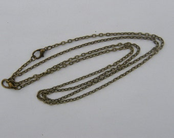 "2 Necklace chains 46cm 18"" antique bronze tone"