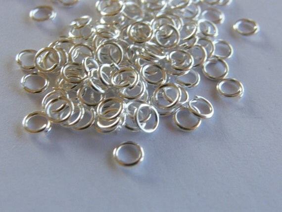 200 Jump rings 4mm silver plated