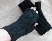 Fingerless Mitts Gloves Custom Hand Knit in Your Choice of Color and Size