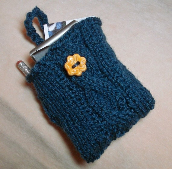 Cell Phone Case with Pocket for  Pad, Pencil, and Business Cards SALE Reduced by 1/3