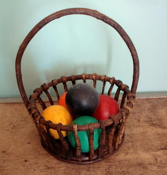 rustic branch basket