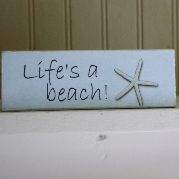 life 39 s a beach mini sign. Black Bedroom Furniture Sets. Home Design Ideas