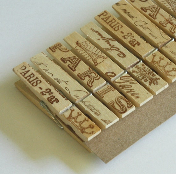 French inspired clothes pins