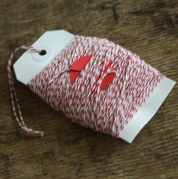 baker's twine - red and white - 50 yards