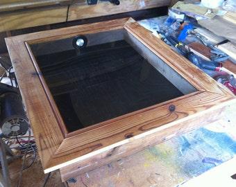 Large Hardwood Outdoor Display Shadowbox