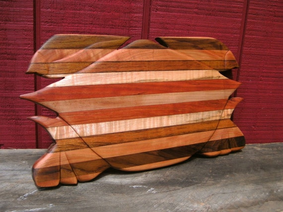Handmade Hardwood Crab Cutting Board