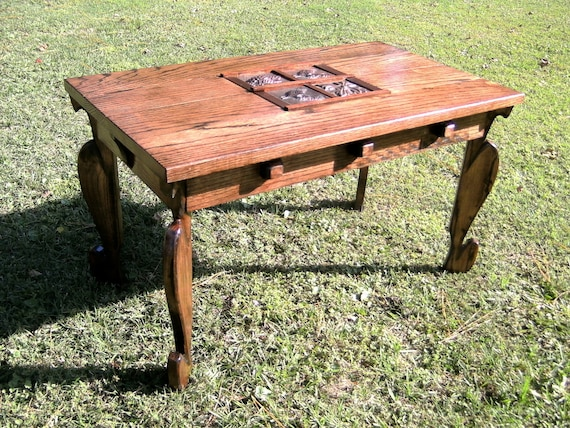 Items Similar To Rustic Solid Oak Coffee Table Custom Order On Etsy