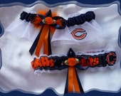 Chicago BEARS Wedding Garter Set OB